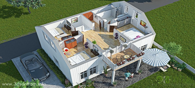 39 3d Floor Plans 39 By Ruturaj Desai From India