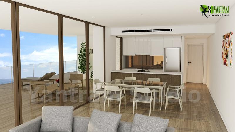 3d Modern Kitchen Designs Bern Switzerland By Yantram Studio Architecture From India
