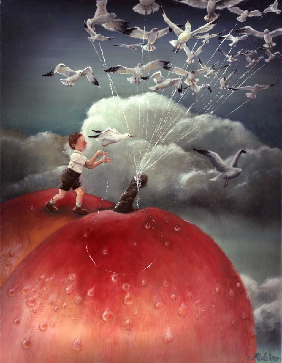 James and the giant peach by karen watson illustration from canada